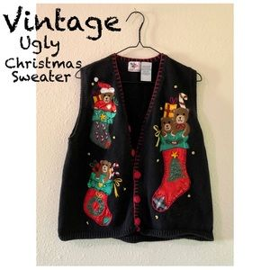 Vintage Ugly Christmas Sweater/Vest